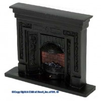 Dollhouse Black Fireplace - Product Image