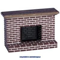 Dollhouse Red Brick Fireplace (2 Sizes) - Product Image