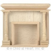 Dollhouse Unfinished Fireplace - Monticello - Product Image