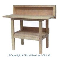 Dollhouse Unfinished Workbench - Product Image