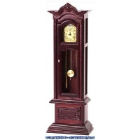 (*) Dollhouse Working Grandfather Clock - Product Image
