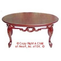 Dollhouse Fancy Victorian Coffee Table - Product Image