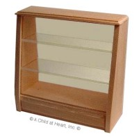 (§) Sale $5 Off - Unfinished Dollhouse Bakery Display Cabinet - Product Image