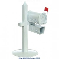 Dollhouse Rural Mailbox - White - Product Image