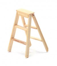 (§) Sale .60¢ Off - 2 inch Wooden Step Ladder - Product Image