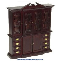Dollhouse Mahogany China Closet - Product Image