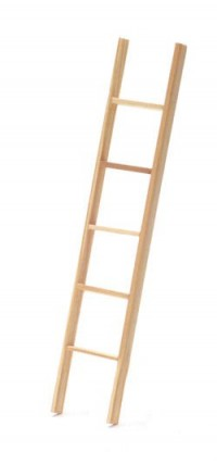 (§) Sale .60¢ Off - 6 inch Wooden Straight Ladder - Product Image