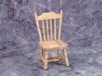 Unfinished Dollhouse Spindle Side Chair - Product Image
