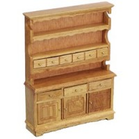 Dollhouse Oak Hutch - Product Image