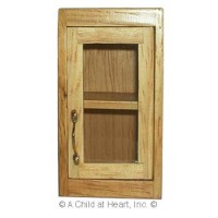 § Disc $2 Off - Dollhouse Small Glass Front Upper Cabinet - Product Image