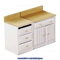 2 pc Lower Cabinet Set - White & Oak - Product Image