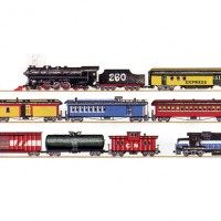(§) Sale .60¢ Off - Choo Choo Train Border - Product Image