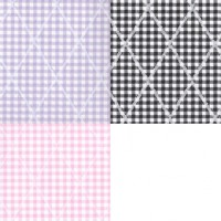 § Disc 50% Off - 3 Shts Diamond Gingham Paper - Product Image
