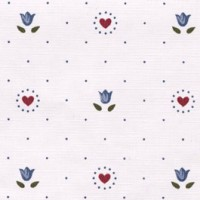 § Disc 50% Off - 3 Shts Blue Tulips w/Hearts Paper - Product Image