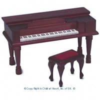 Dollhouse Mahogany Spinet - Product Image