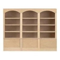Dollhouse Unfinished Triple Unit Bookcase - Product Image