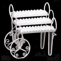 § Disc. $4 Off - Dollhouse Patio Floral Cart - Product Image