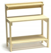 Dollhouse Natural Finish Garden Table - Product Image