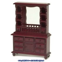 Dollhouse Mahogany Hutch Dresser - Product Image