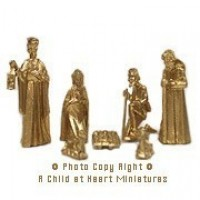 § Disc .40¢ Off - Gold or White Nativity Set - Product Image