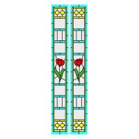 Simulated Stain Glass Insert for Sidelights - Product Image