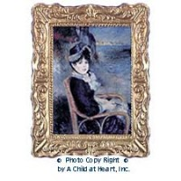 § Sale .50¢ Off - Framed Renoir's By the Seashore - Product Image