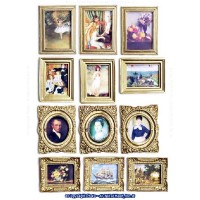 Dollhouse 12 Pc Old Masters Collection - Product Image