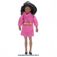Vinyl DollHouse Doll - African American Mom - Product Image