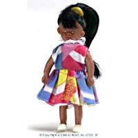 Vinyl DollHouse Doll - Modern African American Girl - Product Image