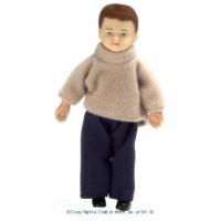 (§) Sale $2 Off - Vinyl Doll - Modern Brunette Boy - Product Image