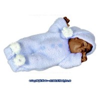 Resin Doll - African American Sleeping Baby - Product Image