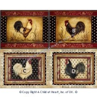 § Sale .50¢ Off - Kitchen Prints - Chickens & Roosters - Product Image