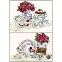 (§) Sale .50¢ Off - Print - Tea & Roses - Product Image