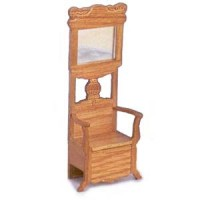 § Damaged $5 Off - Dollhouse Oak Hall Tree - Product Image