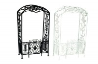Black or White Arbor with Gate - Product Image