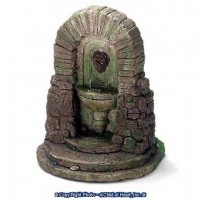 Dollhouse Lion Head Wall Fountain with Steps - Product Image