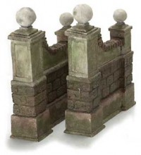 Dollhouse 2 pc Garden Wall - Product Image