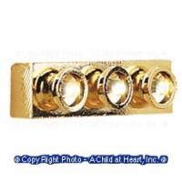 Dollhouse 3 Light Strip Light - Brass - Product Image