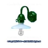 Dollhouse Black or Green Shop Lamp / Security Light - Product Image