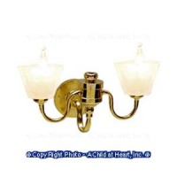 Double Frosted Shade Wall Sconce - Product Image
