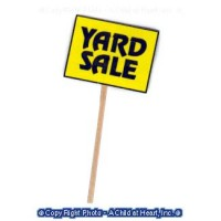 Yard Sale Sign on Post - Product Image