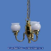 3 Arm Chandlier with Shades - Product Image