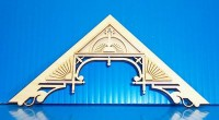 "Dollhouse Apex Trim 5-9/16"" W X 2-7/8"" H - Product Image"