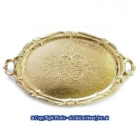 (*) Dollhouse Finished or Unfnished - Oval Tray with Handles - Product Image