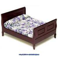 Dollhouse Double Sleigh Bed - Mahogany - Product Image