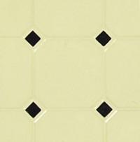 Dollhouse Diamond Tile Flooring - Black & Beige - Product Image