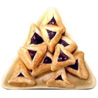 Dollhouse Triangle Plate of Hamantashen - Product Image
