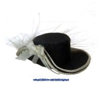 Dollhouse Fancy Lady's Hat - Black - Product Image