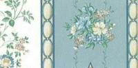 § Sale $1 Off - 2 Shts Cameo Stripe Wallpaper - Product Image