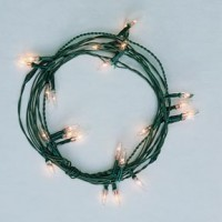 24 Bulb Clear Flame Tip Christmas String - Product Image